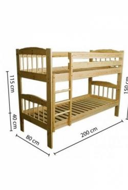 Vaikiška dviaukštė lova