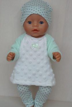 """Trijų dalių drabužėlių komplektukas Baby Born lėlytei """"Žvaigždutės"""""""