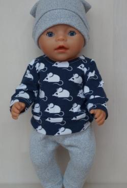 """Drabužėliai Baby Born lėlytei - berniukui """"Peliukai"""""""