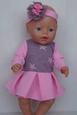 """Suknelės Baby Born ar kitai lėlytei iki 43 cm """"Ryto žara"""""""