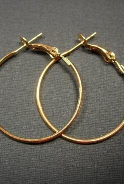 Aukso spalvos auskarai - rinkeliai