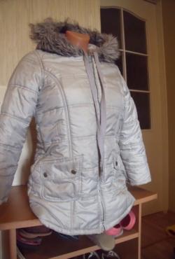 George šilta pilkos/sidabrinės spalvos striukė mergaitei
