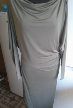 John Zack chaki spalvos asimetriška suknelė