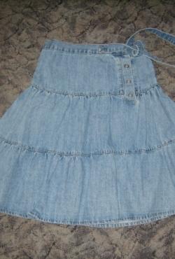 Džinsinis sijonas su diržu