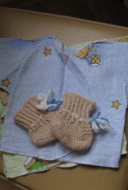 Komplektukas naujų - siaustinukai ir kojinytės