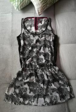 Vasarinė suknelė su zebrais