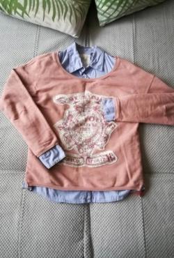 Džemperis su aplikacija ir su perlais