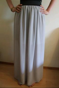 Pilkas ilgas sijonas 103 cm