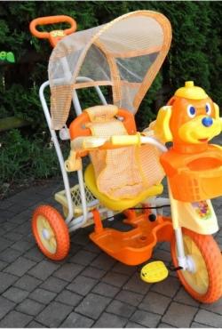 Vaikiškas triratukas oranžinis