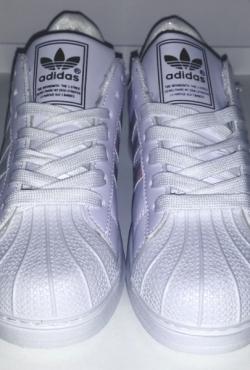 Adidas superstar holographic kedai batai