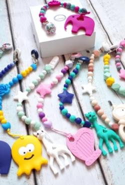 Kramtukai vaikučiams iš maistinio saugaus silikono