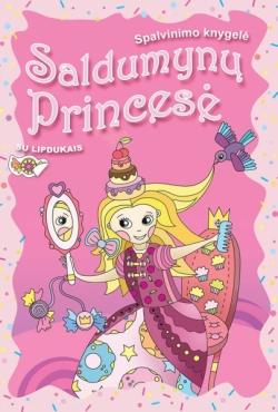 """Spalvinimo knygelė su lipdukais """"Saldumynų princesė"""""""