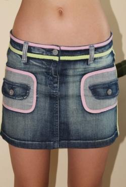 Mini džinsinis sijonas