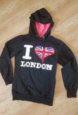 Džemperis su užrašu I love London