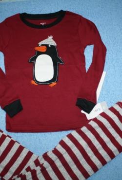 Medvilninė #nauja Carter's pižama 5 m. berniukui su pingvinu