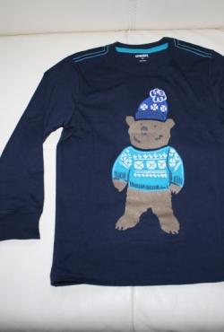 Džemperis su meškiuko aplikacija 4m. berniukui