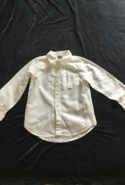 100% lininiai balti nauji marškinėliai Baby GAP 5 metai