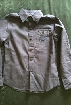 Nauji lininiai/medvilniniai marškinėliai Gang Strees, iatliški 116cm