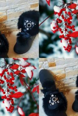 Žieminiai juodi batukai